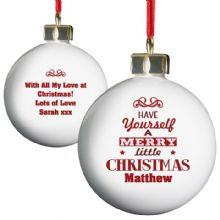 Have Yourself A Merry Little Christmas Bauble